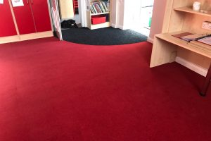 Flotex Flooring at Scalford Primary School.
